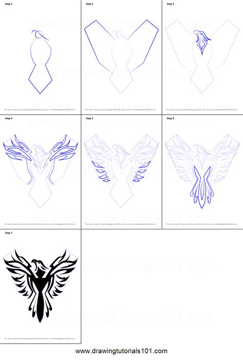 How To Draw A Phoenix Bird Step By Step PENCIL DRAWING