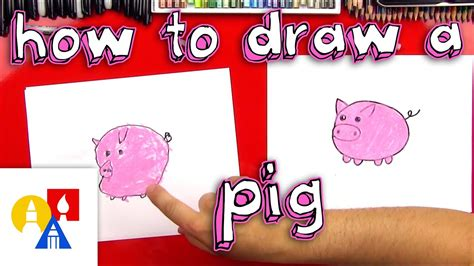 How To Draw A Pig Art For Kids Hub
