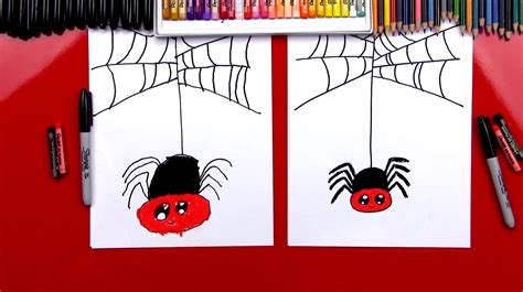 How To Draw A Spider Art For Kids Hub