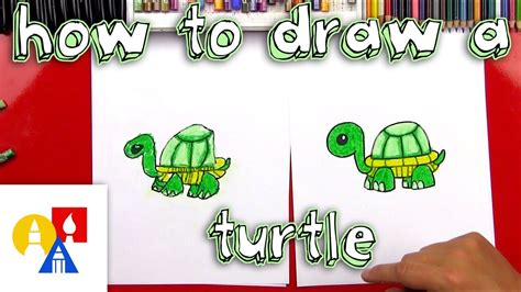 How To Draw A Turtle Art For Kids Hub