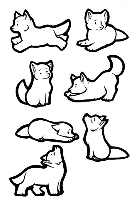How To Draw A Wolf Pup Step By Step Easy Wolf puppy