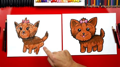 How To Draw A Yorkie Art For Kids Hub