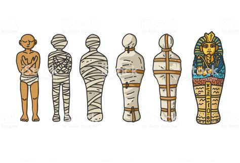 How To Draw An Egyptian Mummy Step By Step With Videos