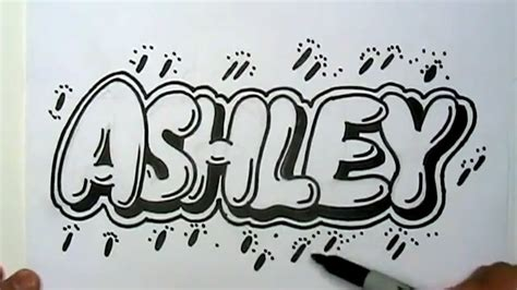 How To Draw Bubble Letters Easy Graffiti Style Lettering