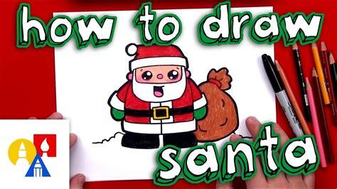 How To Draw Cartoon Santa Claus Art For Kids Hub