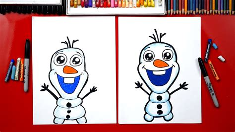 How To Draw Olaf From Frozen Art For Kids Hub