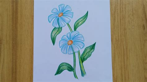 How To Draw a flower Daisy Tutorial YouTube