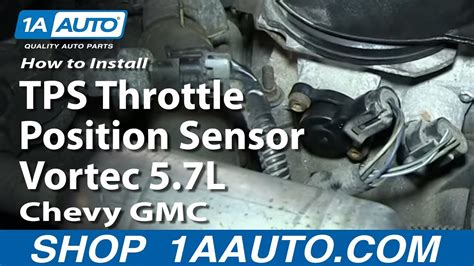 How To Install Replace TPS Throttle Position Sensor Vortec