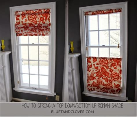 How To Make A Top Down Bottom Up Roman Shade