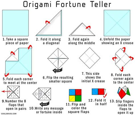 How To Make An Origami Paper Finger Game Fortune Teller