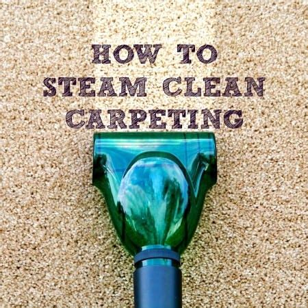 How To Steam Clean Carpeting Housewife How To s