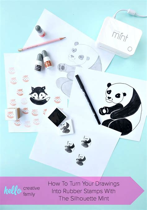 How To Turn Your Drawings Into Rubber Stamps With The