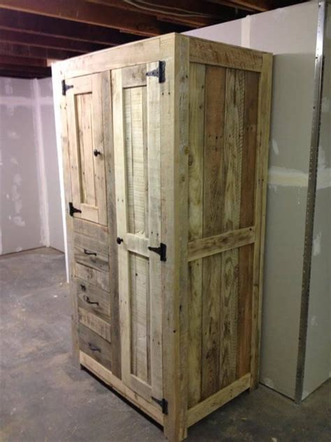 How to Build Pallet Cabinet for Storage 101 Pallet Ideas