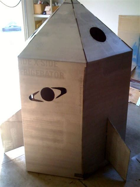 How to Build a Cardboard Rocket Ship 3 Steps with Pictures