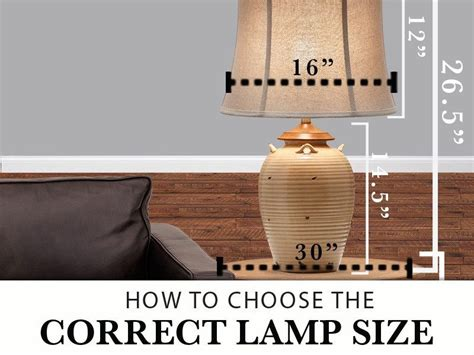 How to Choose the Correct Size Table Lamp Home Guides