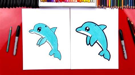 How to Draw A Cartoon Dolphin How to draw funny cartoons