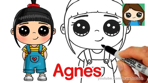 How to Draw Agnes easy Despicable Me YouTube