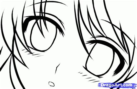 How to Draw Anime Eyes Step by Step Anime Dragoart