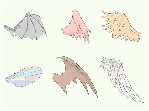 How to Draw Anime Wings 10 Steps with Pictures wikiHow