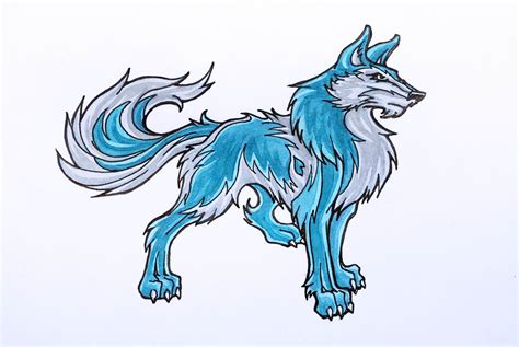 How to Draw Anime Wolves 9 Steps wikiHow