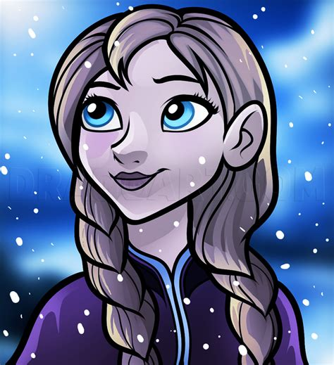 How to Draw Anna Anna From Frozen Dragoart
