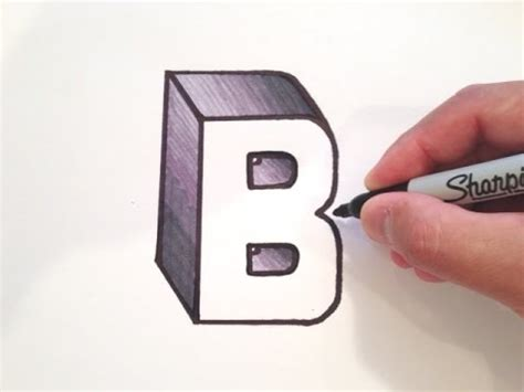 How to Draw B In 3d
