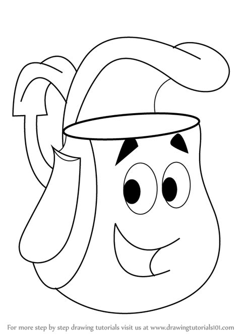 How to Draw Backpack from Dora the Explorer Step by Step