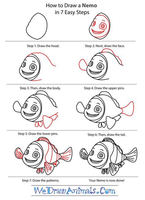 How to Draw Chibi Nemo Finding Nemo Step by Step Disney