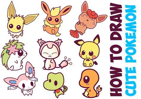 How to Draw Cute Baby Chibi Pokemons Huge Chibi Pokemon