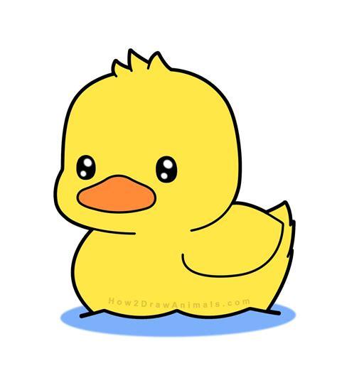 How to Draw Cute Kawaii Baby Ducks Cartoon Ducklings in