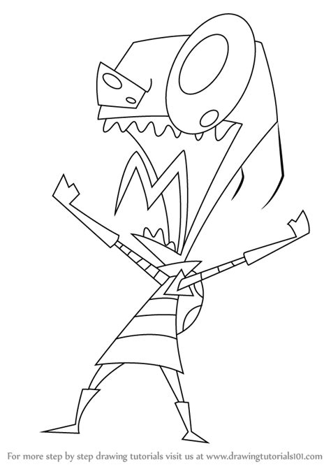 How to Draw Dib from Invader Zim DrawingNow