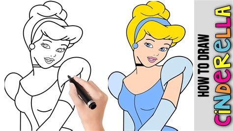 How to Draw Disney Princess Cinderella Cute and Easy YouTube