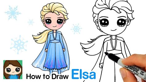 How to Draw Elsa from Frozen with Easy Step by Step