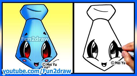 How to Draw Father s Day Easy Tie Fun2draw Cartoon