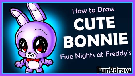 How to Draw Five Nights at Freddy s CUTE Easy Bonnie