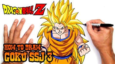 How to Draw Goku SSJ 3 Dragon Ball Z YouTube