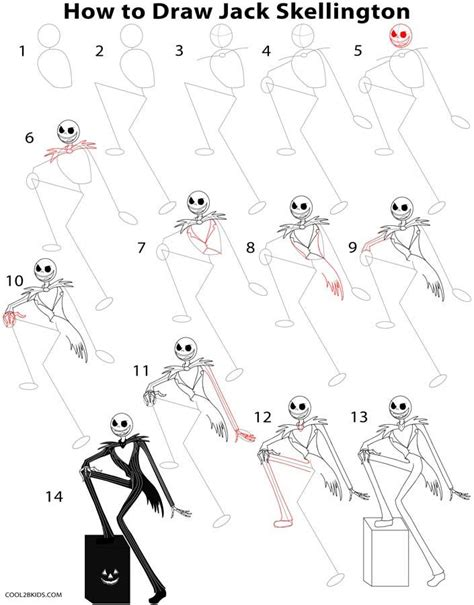 How to Draw Jack Skellington Step by Step Halloween