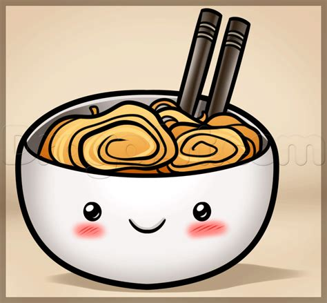 How to Draw Kawaii Noodles Step by Step Food Pop