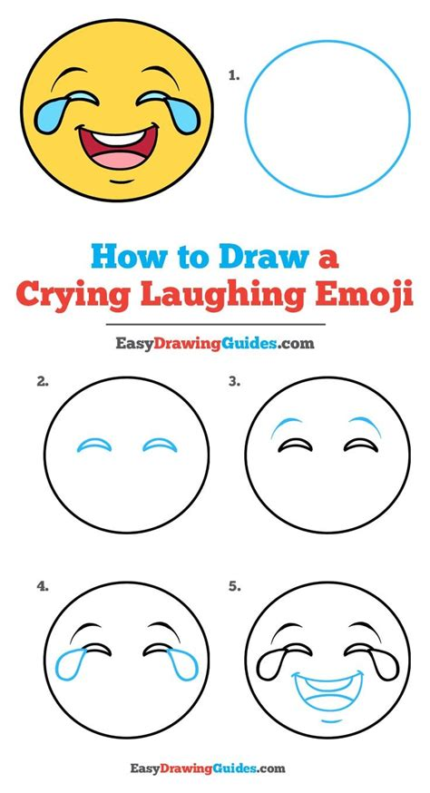 How to Draw Laughing Crying Emoji with Easy Steps Drawing