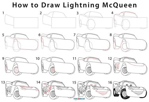 How to Draw Lightning McQueen 7 Steps with Pictures