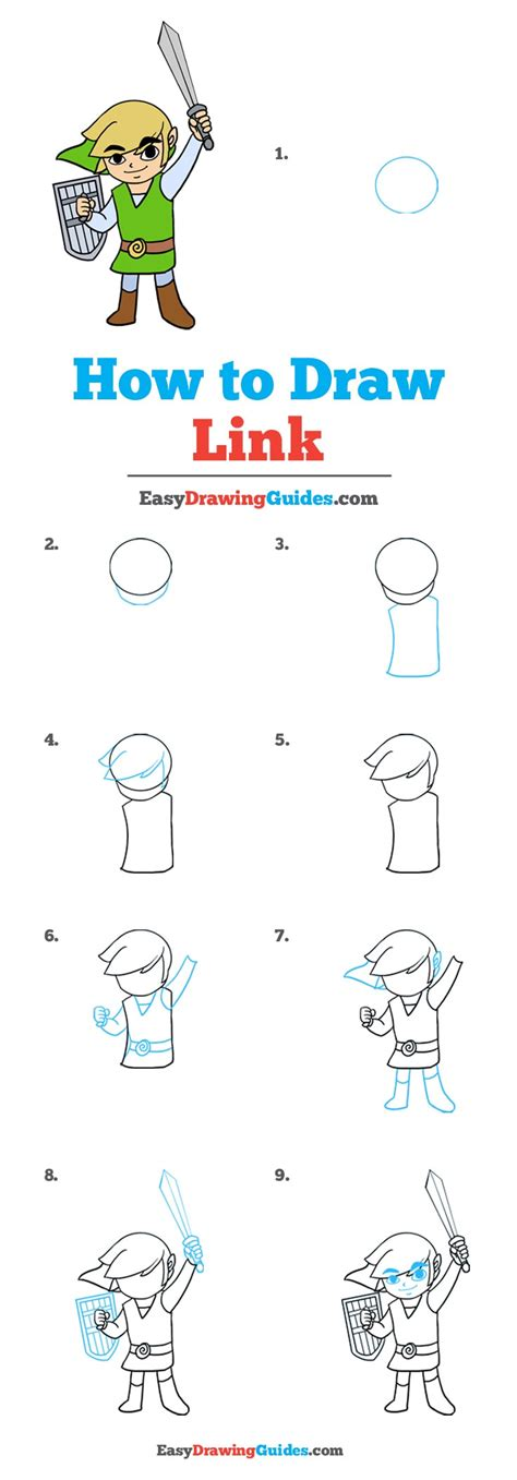 How to Draw Link Easy Drawing Tutorials