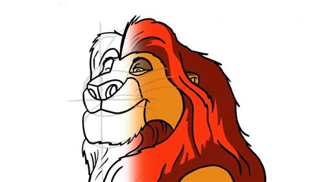 How to Draw Mufasa from Lion King Dragoart