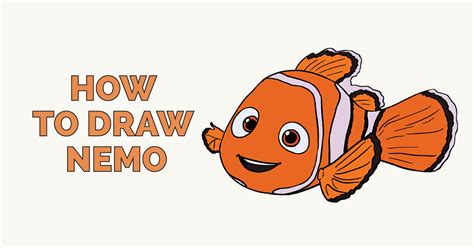 How to Draw Nemo in a Few Easy Steps Easy Drawing Guides