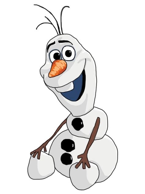 How to Draw Olaf the Snowman from Disneys Frozen Drawing