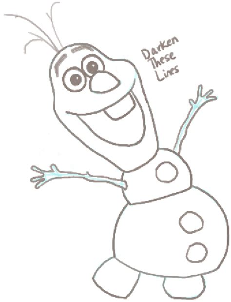 How to Draw Olaf the Snowman from Frozen with Easy Steps