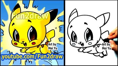 How to Draw Pokemon Pikachu Fun2draw style YouTube