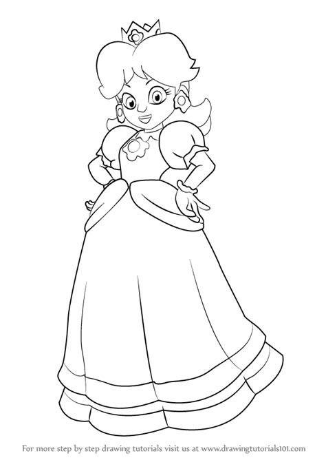 How to Draw Princess Daisy Easy Drawing Tutorials