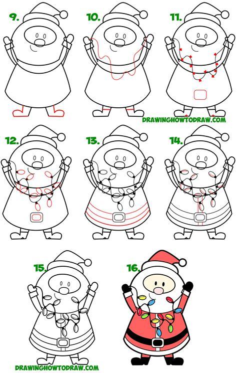 How to Draw Santa Clause Cartoons Drawing Tutorials