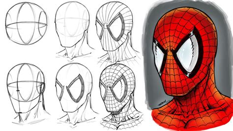 How to Draw Spiderman Step by Step Marvel Characters