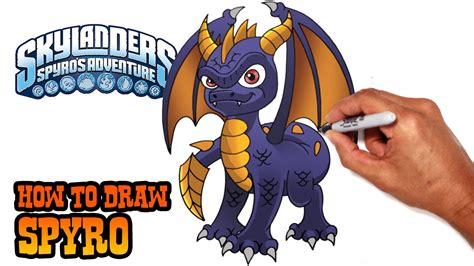 How to Draw Spyro Skylanders Step by Step Drawings
